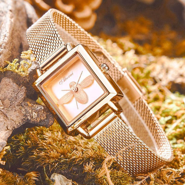 Trendinggate.com Blockbuster Square Bee Watch Ladies French Watch Quartz Watch Waterproof Tremble Processing Customization