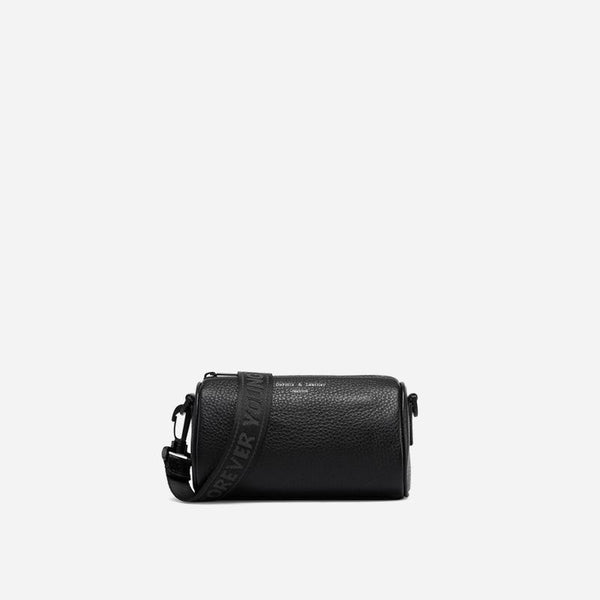 Trendinggate.com Elegant black Brand genuine leather bag, women's 2019 new style, all-in-one bag, wide shoulder strap, summer mini-bag generation