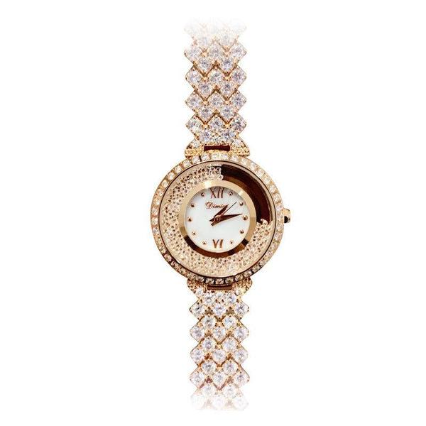 Trendinggate.com Rose gold Brand luxury fashion waterproof watch dimini women watches