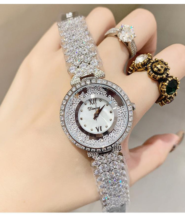 Trendinggate.com Silver Brand luxury fashion waterproof watch dimini women watches