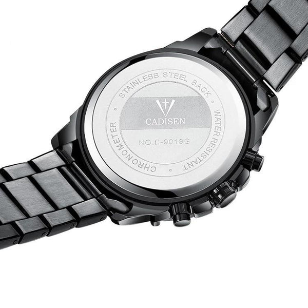 Trendinggate.com Men's Watches CADISEN black band for a subtle look fits most colors easily