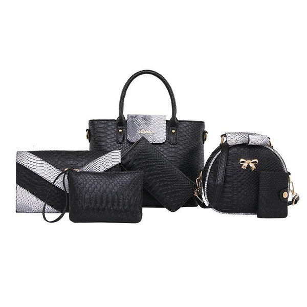 Trendinggate.com black (colour) Crocodile serpentine mother bag female pu designer handbag crocodile serpentine fashion handlist