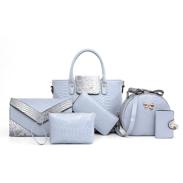 Trendinggate.com blue Crocodile serpentine mother bag female pu designer handbag crocodile serpentine fashion handlist