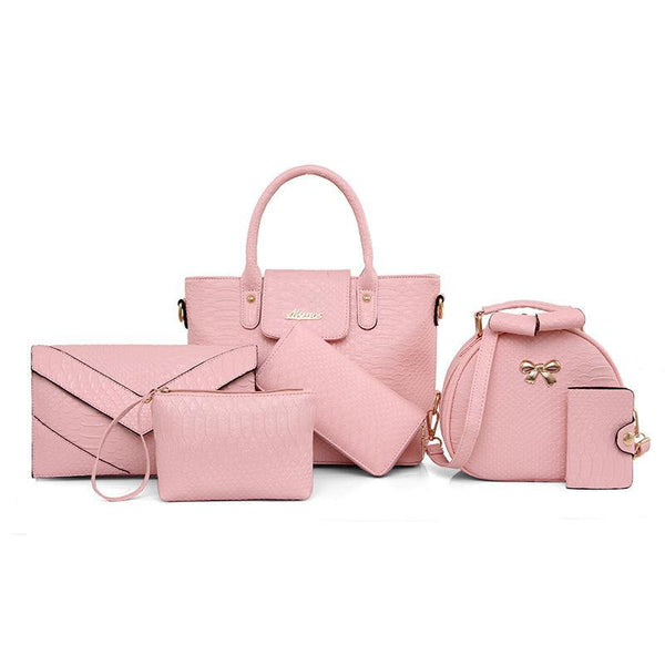 Trendinggate.com Pink Crocodile serpentine mother bag female pu designer handbag crocodile serpentine fashion handlist