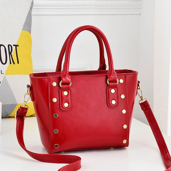 Trendinggate.com gules Cross-border supply of new shoulder bag women's handbags European and American style rivets PU leather wing bag ladies handbag messenger bag