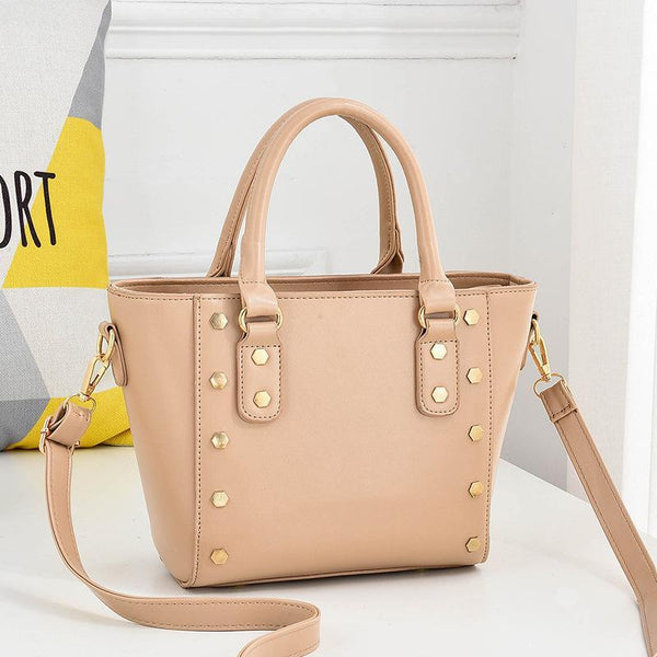 Trendinggate.com Khaki Cross-border supply of new shoulder bag women's handbags European and American style rivets PU leather wing bag ladies handbag messenger bag