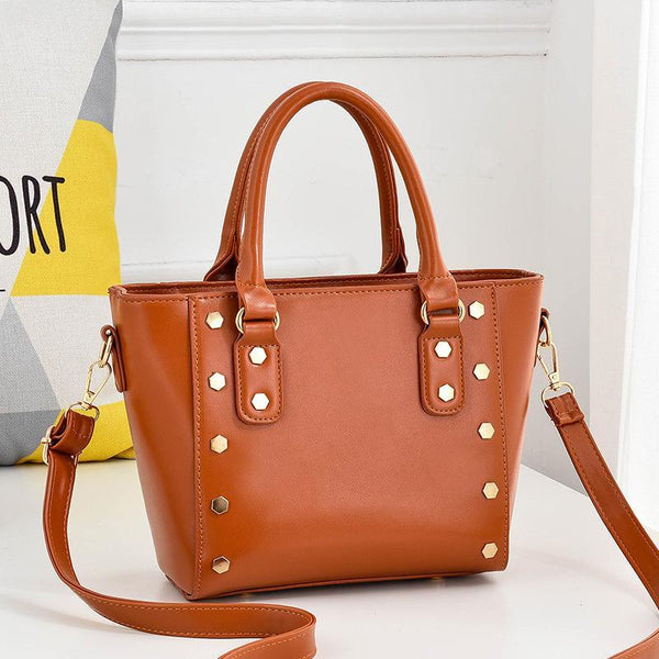 Trendinggate.com yellow Cross-border supply of new shoulder bag women's handbags European and American style rivets PU leather wing bag ladies handbag messenger bag