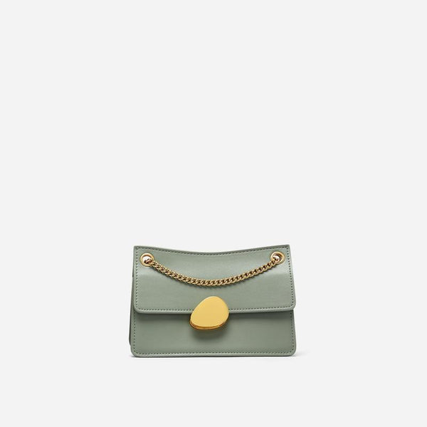 Trendinggate.com Mint Green Small Edition Crowd design chain bag 2019 new one-shoulder bag summer hundred-pack small bag fashion slash bag leather women's bag