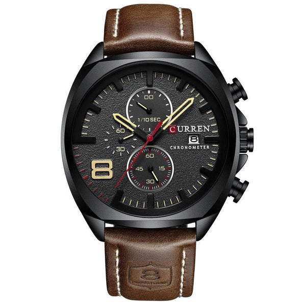 Trendinggate.com Men's Watches Black shell, black face CURREN watch Elegant crafted versatile design goes from casual to formal easily