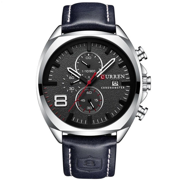 Trendinggate.com Men's Watches Silver shell black surface CURREN watch Elegant crafted versatile design goes from casual to formal easily