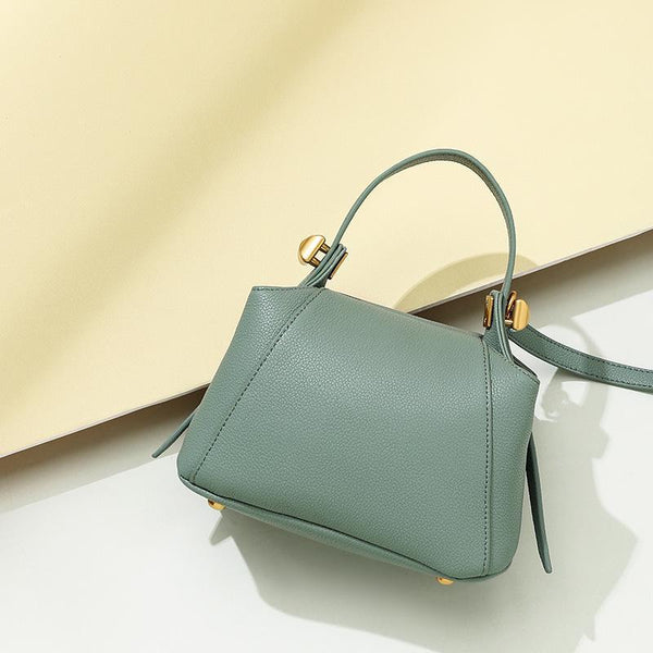 Trendinggate.com Mint green Customization of Boston Bag Leather Single Shoulder Slant Bag in Summer