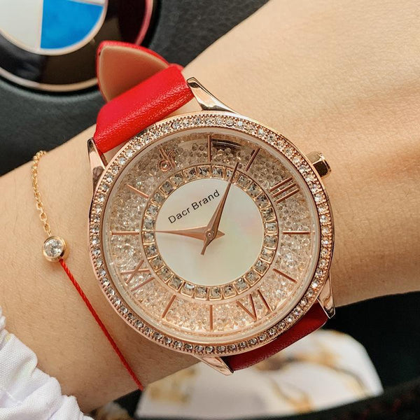 Trendinggate.com DACRBrand diamond full of stars watch female dial fashion waterproof Korean version of the simple belt a substitute