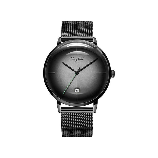 Trendinggate.com Men's Watches 3A118Black shell, grey, black face, black belt DAYBIRD casual watch that takes you to the next level