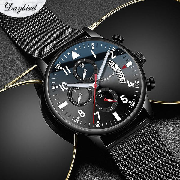 DAYBIRD versatile black band suitable for any occasion