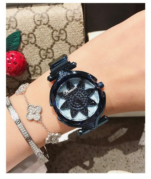 Trendinggate.com Blue shell Dimini Timi brand fashion magnet watch Vibrating sound explosion net red watch women watches