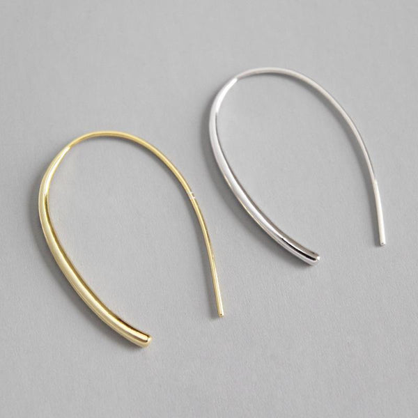 Trendinggate.com ET296 Korean S925 Sterling Silver Earrings ins simple temperament and versatile U-shaped earrings earrings earrings female gold-plated earrings