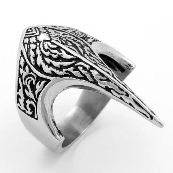 Trendinggate.com European and American alternative eagle-billed titanium steel ring personality retro man punk Ring Carved Eagle finger ring QJ259