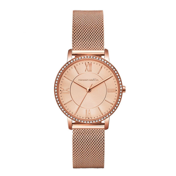 Trendinggate.com 1072WF2  All rose gold European Union Environmental-friendly Amazon explosive European station 2019 new model of private model women's watch, Japanese core, light-weight quartz watch