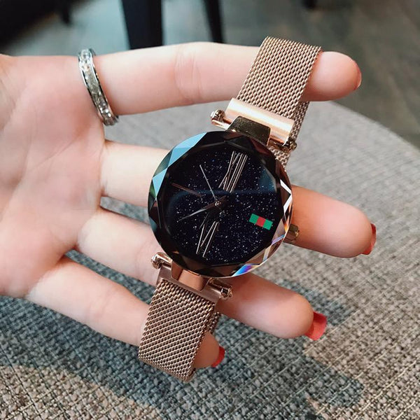 Trendinggate.com Explosions watch female stars 2018 new fashion network red shaking sound with iron absorption lazy watches waterproof