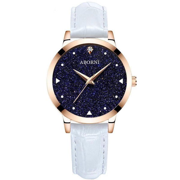 Trendinggate.com Rose Shell Star Blank Belt Factory source college popular style women's watch starry women's watch students Korean version of simple foreign trade wholesale