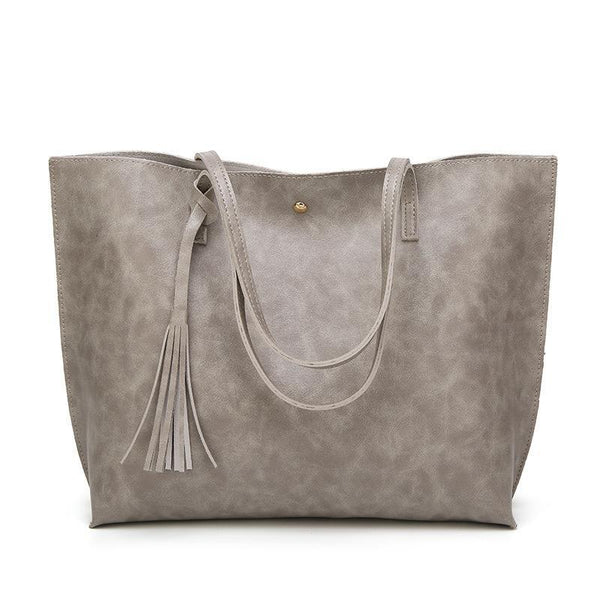 Trendinggate.com dark grey Factory wholesale bag cross-border women's bag 2019 autumn and winter new Korean version of the fashion tote bag large-capacity shoulder bag