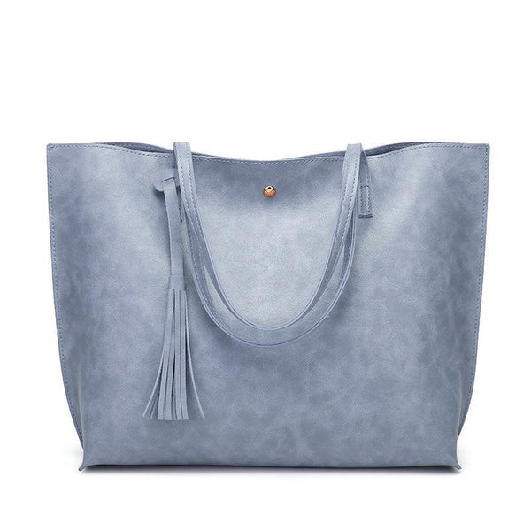 Trendinggate.com Sky blue Factory wholesale bag cross-border women's bag 2019 autumn and winter new Korean version of the fashion tote bag large-capacity shoulder bag