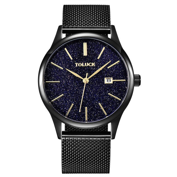 Trendinggate.com Classical Black Star Network Belt Fashion Trend of Star Men's Watches
