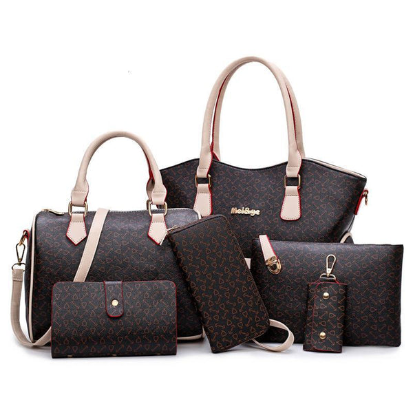 Trendinggate.com brown female handbagsSix sets of ant-striped fish bone pattern are sold well in Europe, America and Africa