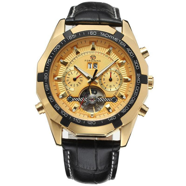 Trendinggate.com Men's Watches Golden FORSINING elegant casual watch perfect for summer nights
