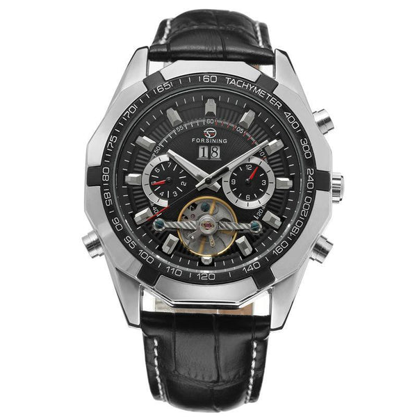 Trendinggate.com Men's Watches Silver black FORSINING elegant casual watch perfect for summer nights