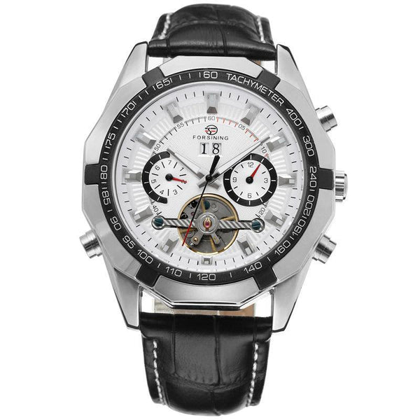 Trendinggate.com Men's Watches Silvery white FORSINING elegant casual watch perfect for summer nights