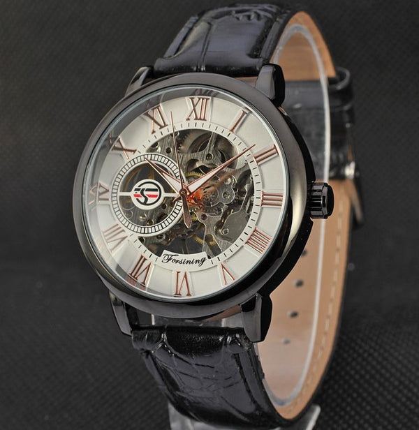 Trendinggate.com Men's Watches Black rose white FORSINING with a stainless steel case that offers durability