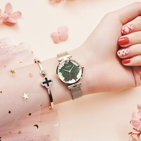 Trendinggate.com Full sky star French minority watch lady star sky waterproofing female student Korean version simple ins forest department female watch