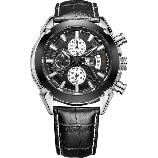 https://detail.1688.com/offer/523226915482.html Black belt black face genuine leather multi-function mechanical watch