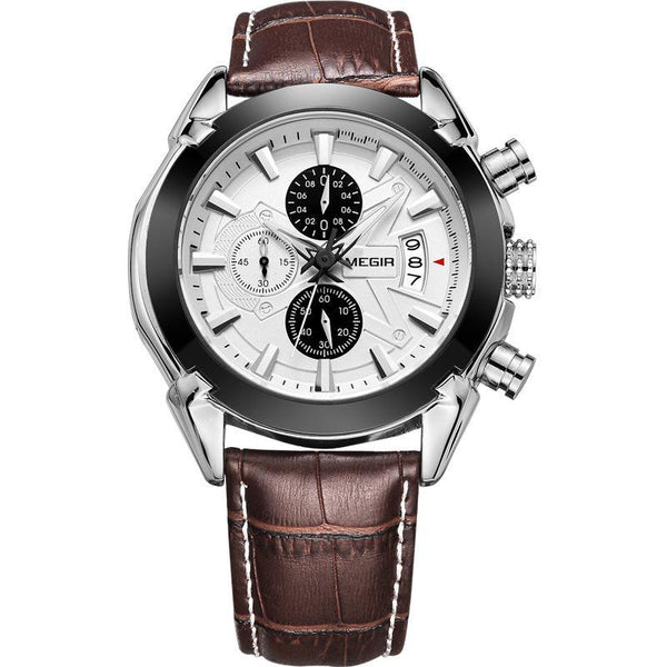 https://detail.1688.com/offer/523226915482.html Brown belt and white face genuine leather multi-function mechanical watch