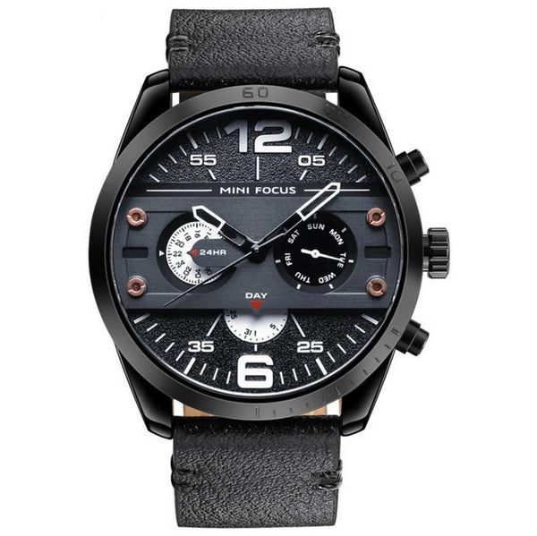 https://detail.1688.com/offer/599252450522.html Black Shell, Black Face and White Characters Genuine leather watch