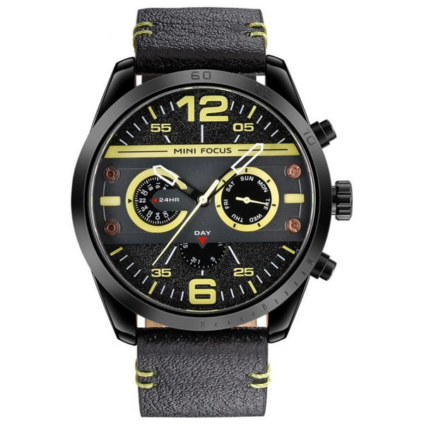 https://detail.1688.com/offer/599252450522.html Black shell yellow characte Genuine leather watch