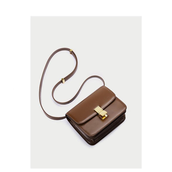 Trendinggate.com Genuine leather women's bag 2019 new tofu bag hand rub pattern cowhide single shoulder messenger bag manufacturer directly approved one piece to be sent on behalf of others