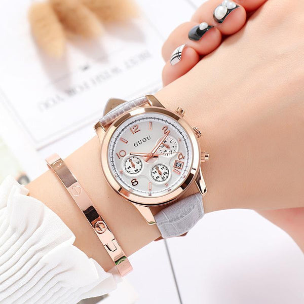 Trendinggate.com 灰皮 GUOUHong Kong Guo Ms watches classic retro leisure quartz watches women's watches support a surrogate hai