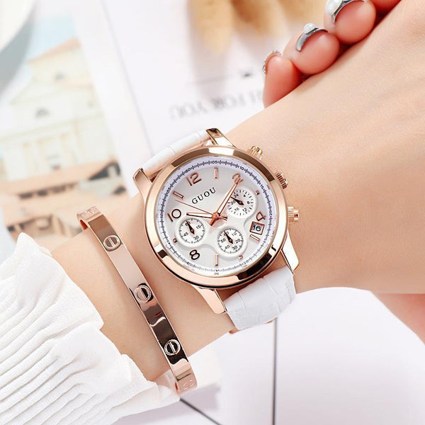 Trendinggate.com 白色 GUOUHong Kong Guo Ms watches classic retro leisure quartz watches women's watches support a surrogate hai