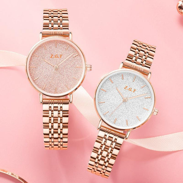 Trendinggate.com Gypsophila French minority watches ladies starry sky waterproof Mori girl students Korean version of simple ins Mori girl watches