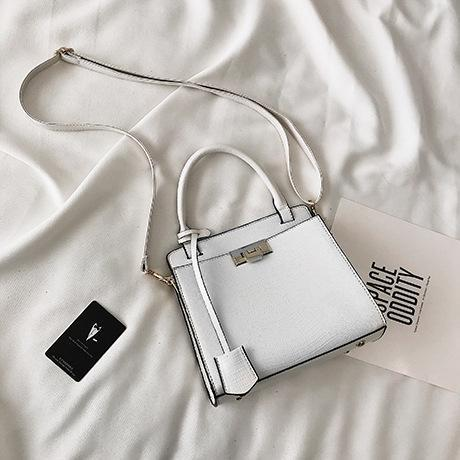Trendinggate.com white (colour) handbags 2019New fashionable Korean version of one-shoulder oblique Bag Fashion Lizard-print handbag