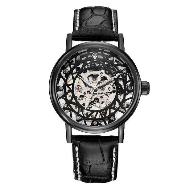 https://detail.1688.com/offer/560765356330.html Black belt and black shell Hollow carved mechanical watch