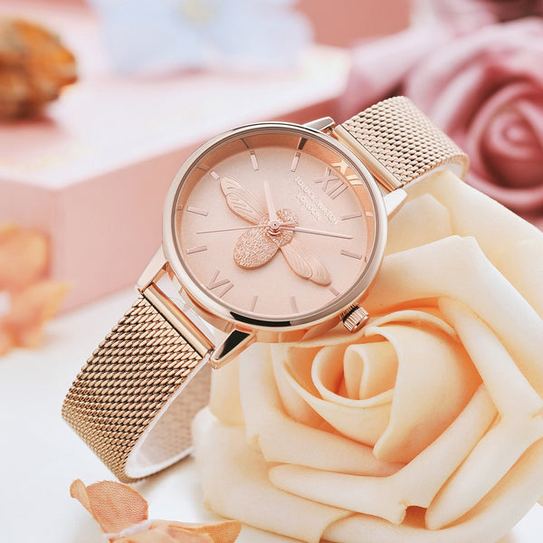 Trendinggate.com Honeybee ob Lightweight and Luxury French Minority Watch Ladies Tremble Nethong Simple Watch Students of the Same Fashion Trend