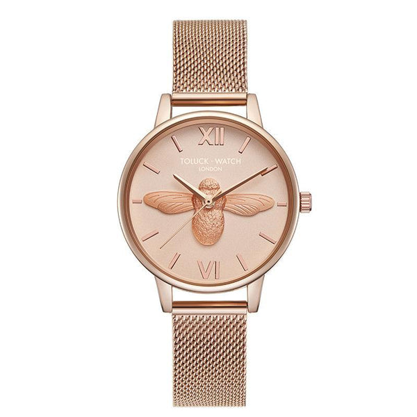 Trendinggate.com Champagne【Goods in stock】 Honeybee ob Lightweight and Luxury French Minority Watch Ladies Tremble Nethong Simple Watch Students of the Same Fashion Trend