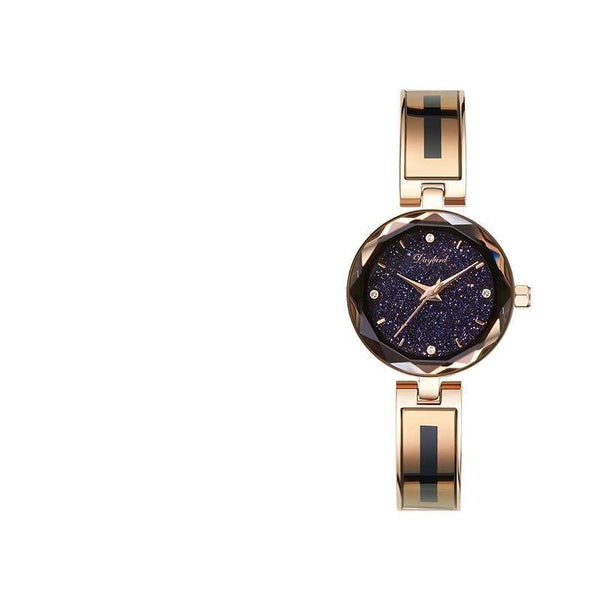 Trendinggate.com Rose Gold Shell With Blue Sky Hot hot burst women's watch star when to run the watch women's net red shake sound the same source factory spot