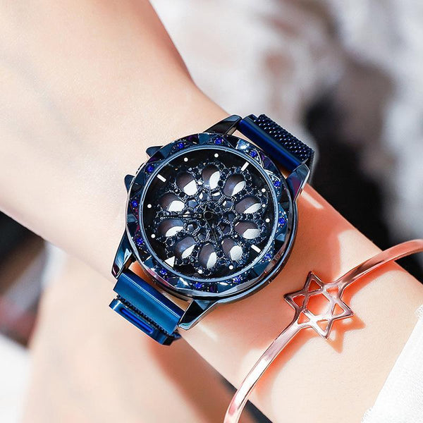 Trendinggate.com 蓝色雪花磁力带 Hot Selling Blockbuster 2019 New Yilu Running Watches When You Have Time