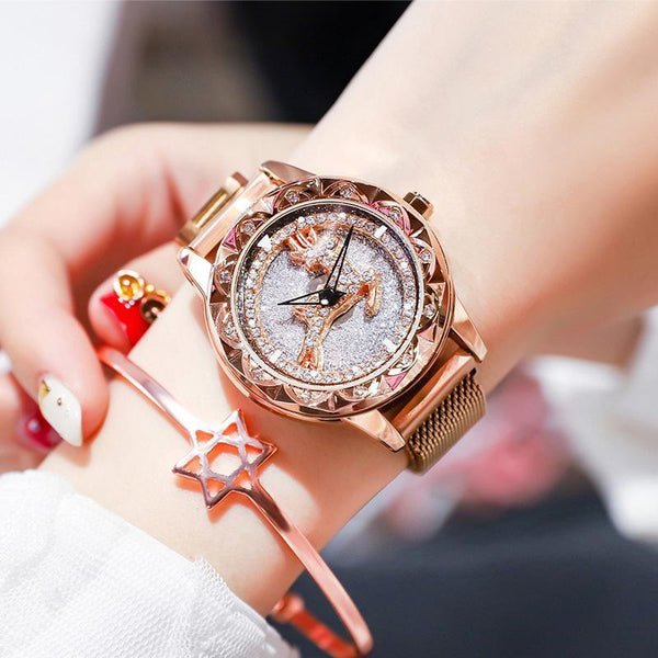 Trendinggate.com All the way to your Rose Gold magnetic tape Hot Selling Blockbuster 2019 New Yilu Running Watches When You Have Time