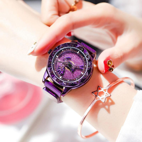 Trendinggate.com Along the way you have your purple magnetic tape Hot Selling Blockbuster 2019 New Yilu Running Watches When You Have Time