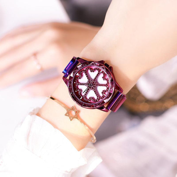 Trendinggate.com Purple Love Magnetic Band Hot Selling Blockbuster 2019 New Yilu Running Watches When You Have Time